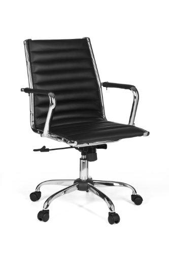 Design schreibtischstuhl  AMSTYLE Bürostuhl GENF 2 Bezug Kunstleder Schwarz Design ...