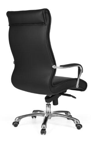 Design schreibtischstuhl  AMSTYLE Bürostuhl MILANO Bezug Kunstleder Schwarz Design ...