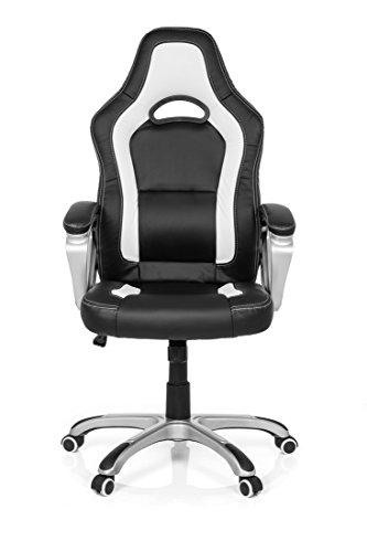 Ergonomischer bürostuhl weiß  Zocker Bundle Racing Gaming Chair GAMING ZONE weiß schwarz + ...
